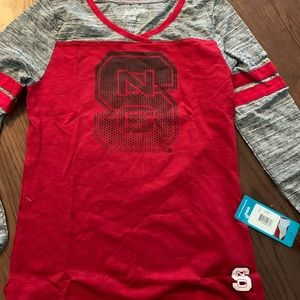 NWT Juniors Long Sleeve NC State Wolfpack Shirt